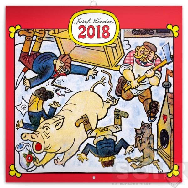 Poznamkovy Kalendar Josef Lada Remesla 2018 30 X 30 Cm Pgp 4728